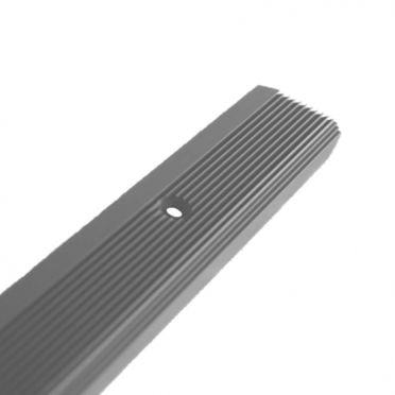 Nez de marche XL 60 x 24 antidérapant à visser aluminium longueur 2000 mm, trous de fixation fraisés, couleur ALU NATUREL