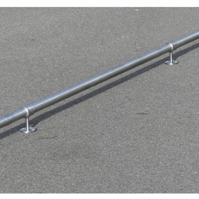 Chasse-roues rampe PMR en inox en kit adaptable toutes configurations