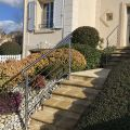 Balustrade inox en kit 5 BARRES et BAGUE de main courante : escalier, terrasse, balcon mezzanine 0
