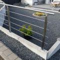Garde corps inox en kit 4 barres avec poteaux design pour terrasse, escalier, balcon ou mezzanine 0