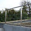 Garde corps inox en kit 4 barres avec poteaux design pour terrasse, escalier, balcon ou mezzanine 20