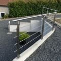 Garde corps inox en kit 4 barres avec poteaux design pour terrasse, escalier, balcon ou mezzanine 22