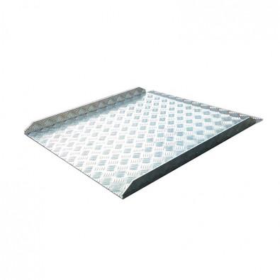 Rampe d'accès ERP PMR amovible longueur 400 mm en aluminium larmé antidérapant