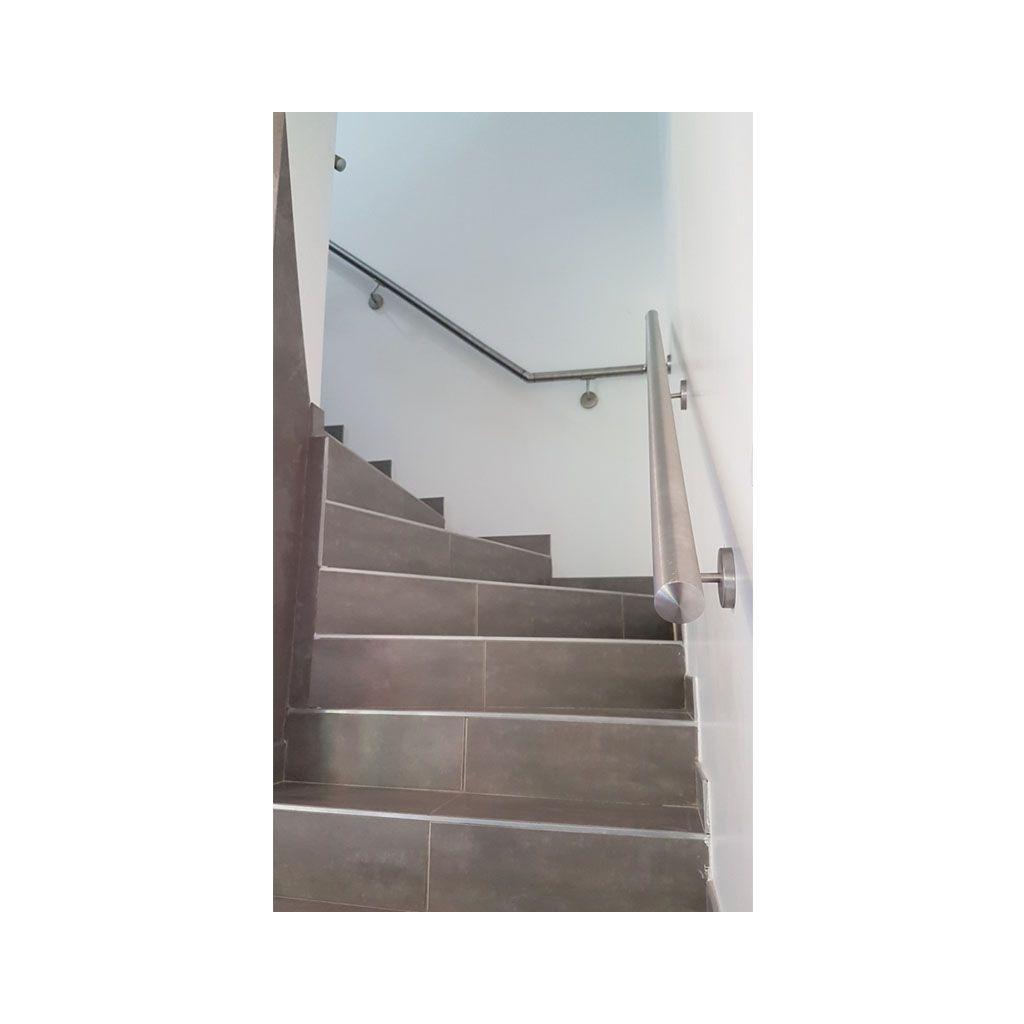 Rampe D Escalier Murale Bois main courante inox en kit