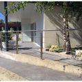 Garde corps inox en kit 4 barres avec poteaux design pour terrasse, escalier, balcon ou mezzanine 10