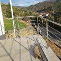 Garde corps inox en kit 5 BARRES à la française : rampe escalier, terrasse, balcon, mezzanine 20