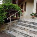Rampe d'accès inox en kit avec BAGUE pour escalier, terrasse ou plateforme : qualité et prix ! 1