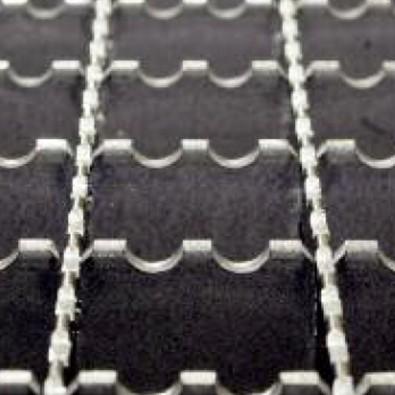 Caillebotis double crantage acier galvanisé maille 30x30 mm - porteurs 30x2 mm dim. *1000* x 1000 mm hauteur 30 mm