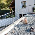 Garde corps inox en kit 5 BARRES à la française : rampe escalier, terrasse, balcon, mezzanine 44
