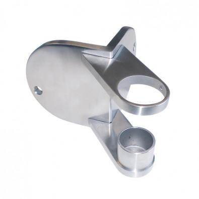 Platine de fixation ronde d'angle saillant de poteau ø 42,4mm inox 316
