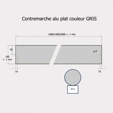 Contremarche aluminium 100 x 2000 mm GRIS recoupable