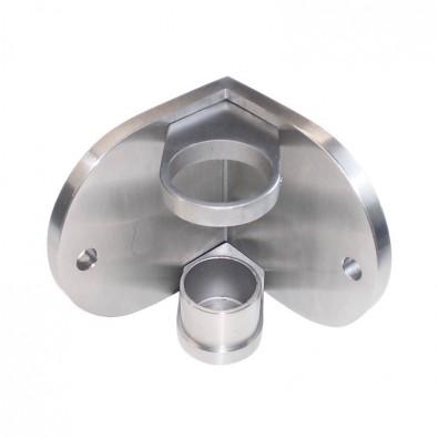 Platine de fixation ronde d'angle rentrant de poteau ø 42,4mm inox 304