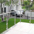 Garde corps inox en kit à verre et barres à la française : rampe escalier, terrasse, balcon ou mezzanine 0