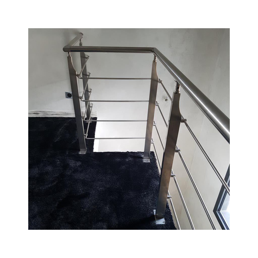 Garde Corps Inox En Kit 4 Barres Avec Poteaux Design Pour Terrasse,  Escalier, Balcon