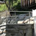 Garde corps inox en kit 4 barres avec poteaux design pour terrasse, escalier, balcon ou mezzanine 2