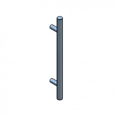Bâton de Maréchal en inox 304 brossé, longueur 600mm