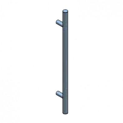 Bâton de Maréchal en inox 304 brossé, longueur 800mm