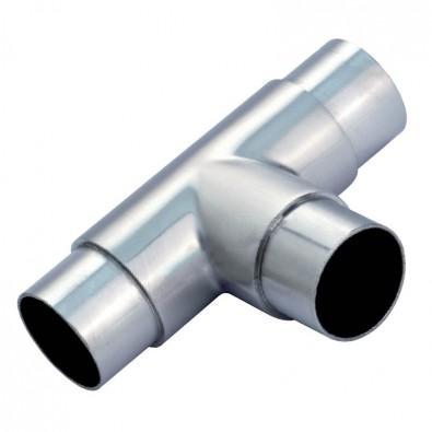 Raccord en Té en inox 304 brossé diametre 42,4 mm