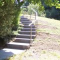 Rampe d'escalier sur poteaux, en kit, en inox 304 brossé 6